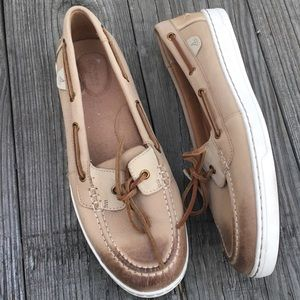 Sperry Brown Leather light weight Boat Shoes 10